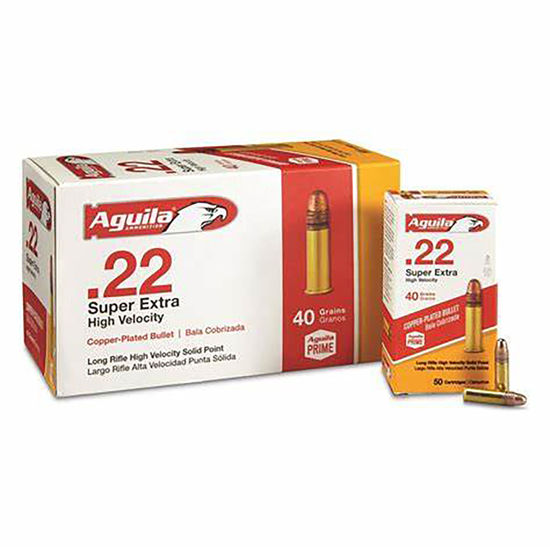 Picture of Aguila Super Extra Copper Plated .22lr 40gr