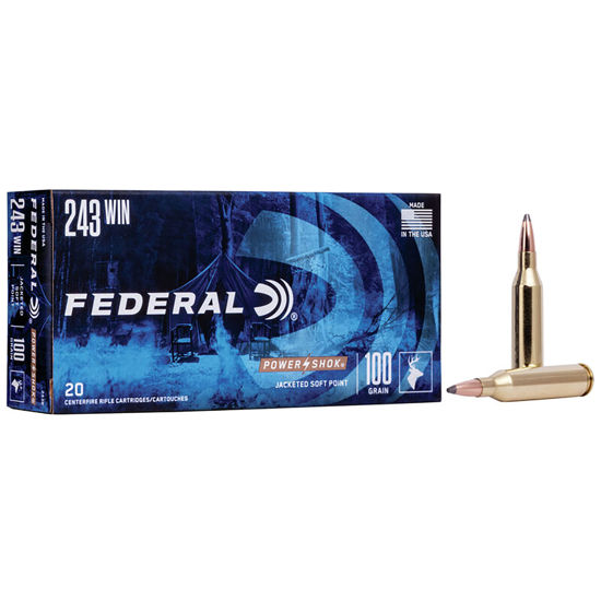 Picture of Federal .243 WIN Power Shok 100gr SP