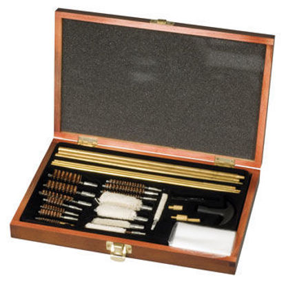 Picture of Milbro Deluxe Shotgun and Rifle Cleaning Kit (Wood Case)