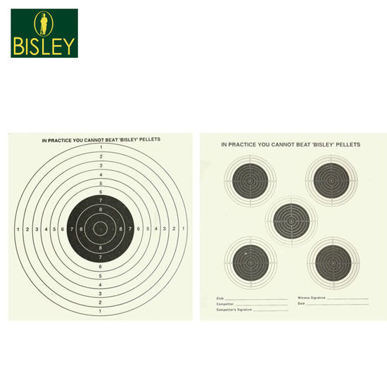 Picture of Bisley Dual Sided 17cm Paper Targets x25